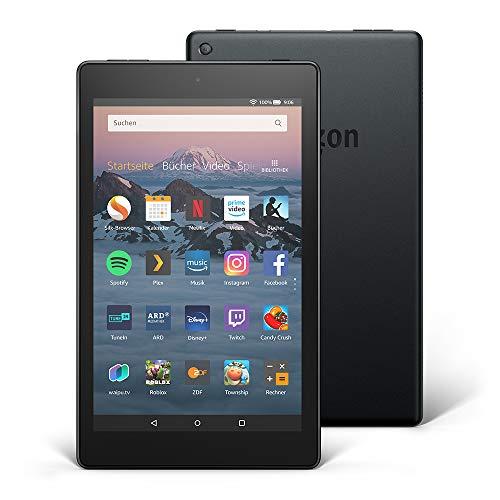 Fire HD 8-Tablet, 16 GB, Schwarz, Ohne Werbung (vorherige Generation – 8.)