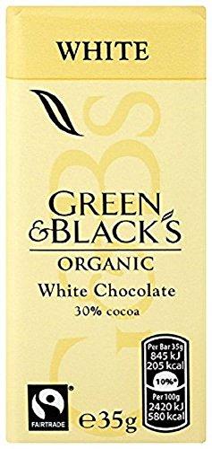 Green & Black's Organic White Chocolate Bar 35g (Pack of 30)