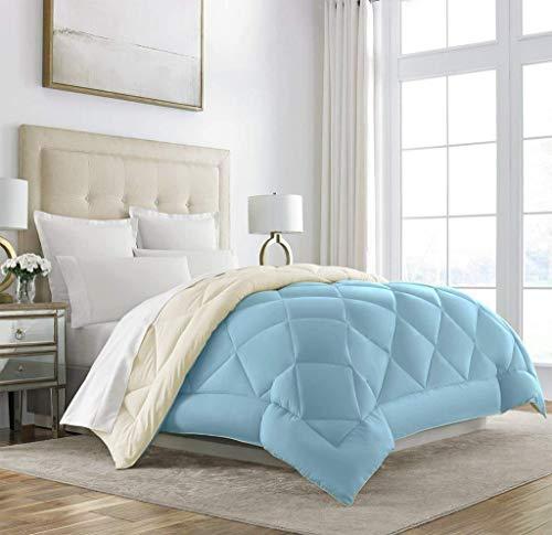 Sleep Restoration Down Alternative Comforter - Reversible - All-Season Hotel Quality Luxury Hypoallergenic Comforter -Twin/Twin XL - Burgundy/Grey
