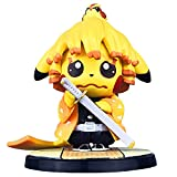 Pikachu Anime Figure Cosplay Demon Slayer Agatsuma Zenitsu/Hashibira Inosuke Model Statue Action Figure PVC Q Version Nendoroid Toy 14cm/5.51in (Agatsuma Zenitsu)