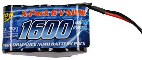Carson 500608159 - Akku Pack Empfänger 6V, 1600 mAh, NiMH, Hump
