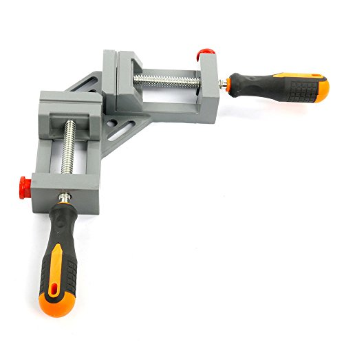 NUZAMAS 90 Degree Corner Clamp Right Angle Clamp Aluminum Alloy Made, Adjustable Swing Jaw Corner Clamp, Woodworking...