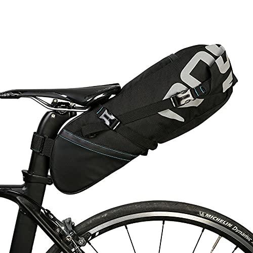 Alforja Para Bicicletas Bicicleta Sillín de asiento Bicicleta Bicicleta Sillín de asiento Almacenamiento Pannier Ciclismo MTB Raro Paquete trasero Agua PROTEPETE PROTEPETE 8L 10L Bolsa Alforja Para Bi
