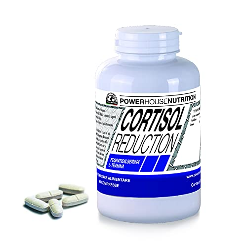 CORTISOL REDUCTION con Fosfatidilserina e Teanina | Integratore Alimentare per Ridurre il Cortisolo, Dimagrante & Antiossidante
