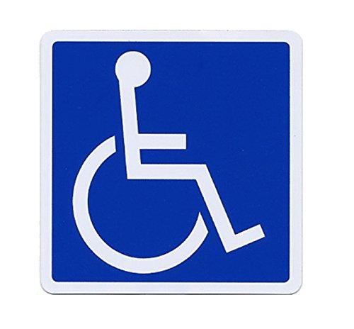SSC 車椅子 マグネットステッカー 身障者用設備・障害者用設備 車いす 車イス 車両等への貼付/標識/マークとして最適 防水・耐水 屋外での使用も可 障害者スペースへの駐車等に 右向き/155×155mm qb600029a03n0