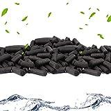 QUCHENG Anillos de cerámica para Acuario, filtros de Bio, Anillos de cerámica Premium para Todos los Tipos de peceras y estanques, 1000 g (Carbón Activado 1000g)