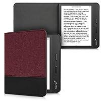 kwmobile 対応: Tolino Vision 5 ケース - キャンバス 電子書籍カバー - オートスリープ reader 保護ケース