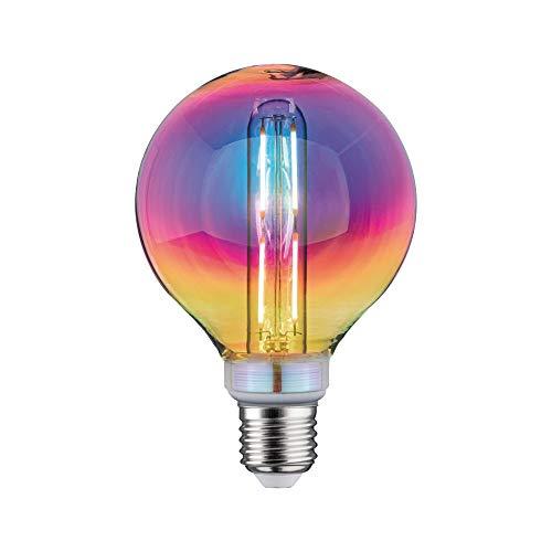 Paulmann 28773 LED Lampe Fantastic Colors G95 Globe 5 Watt dimmbar Leuchtmittel Dichroic effizientes Licht Warmweiß 2700 K E27