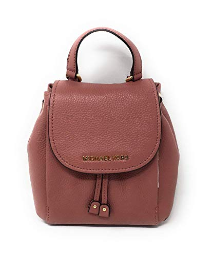 "Imported Leather Drawstring & Magnetic Flap Closure Silver Tone Hardware Adjustable Leather Straps & Top Handle Interior: 2 Slip pockets w/ 2"" handle & 22"" adjustable Removable crossbody strap Measures-8 x 7 x 4 Inches"