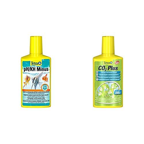 Tetra pH/KH Minus (Wasseraufbereiter zur kontrollierten Senkung der pH- und KH-Werte), 250 ml Flasche & CO2 Plus flüssiger Kohlenstoff-Dünger für prächtige Aquarienpflanzen, 250 ml Flasche