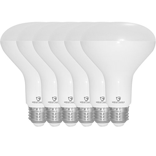 Great Eagle R30 or BR30 LED Bulb, 12W (100W Equivalent), 1250 Lumens, Brighter Upgrade for 65W Bulb, 3000K Bright White Color, for Recessed Can Use, Wide Flood, Dimmable, and UL Listed (Pack of 6)