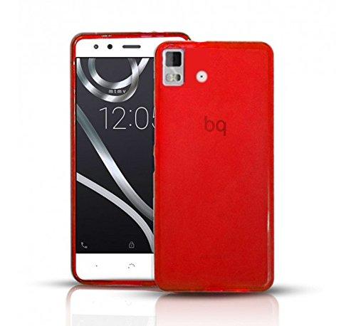 Todobarato24h Funda Gel Lisa ROJA Compatible con BQ AQUARIS E5 HD FHD