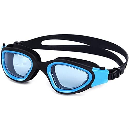 Gafas de natación Ajustables a Impermeables para Hombres y Mujeres Adultos Anti-Niebla (Color : Blue, Size : One Size)