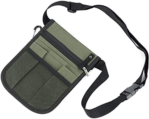 Bolso de la cintura Bolsa de almacenamiento de enfermería de caja, paquete de la enfermera Fanny con soporte de cinta, bolsa de cinturón de múltiples compartimentos, kit bolsa de cintura práctica para