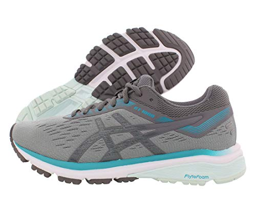ASICS Women's GT-1000 7 Running Shoes, 6M, Stone Grey/Carbon