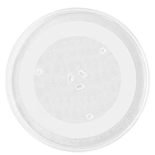 BlueCatELE 9.6 or 24.5 cm Flat Bottom Glass Microwave Turntable Plate Small Compatible for LG 3390W1A035 and Other Several Models