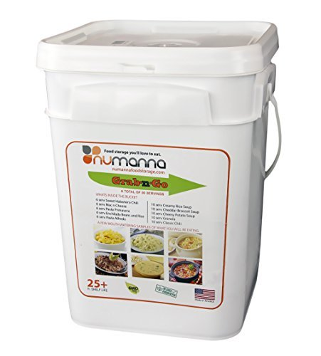 NuManna INT-NMGNG 76 Meals, Emergency Survival Food Storage Kit, Separate Rations, in a Bucket, 25 Plus Year Shelf Life, GMO-Free [並行輸入品]