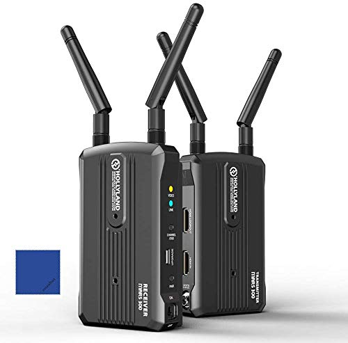 Hollyland Mars 300 1080P draadloos HD-videotransmissiesysteem 5G-signaalzender en -ontvanger in- / uitgang HDMI-dual kit voor Cardanische stabilisator met DSLR-camera