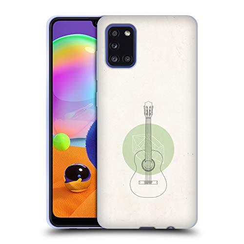 Head Case Designs Offiziell Zugelassen Florent Bodart Gitarre Musik Soft Gel Handyhülle Hülle Huelle und Passende Designer Hintergrundbilder kompatibel mit Samsung Galaxy A31 (2020)