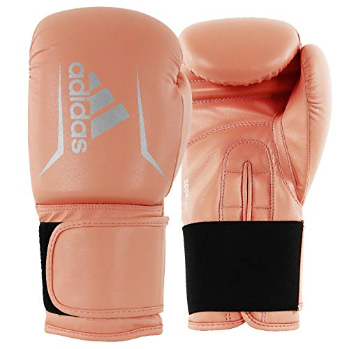 adidas Boxing Gloves - Speed 50 - Gloves for Boxing & Kickboxing - Boxing Gloves Women -Boxing Gloves for Men - Boxing Equipment - Sparring Gloves (OR/Silver, 14 Oz)