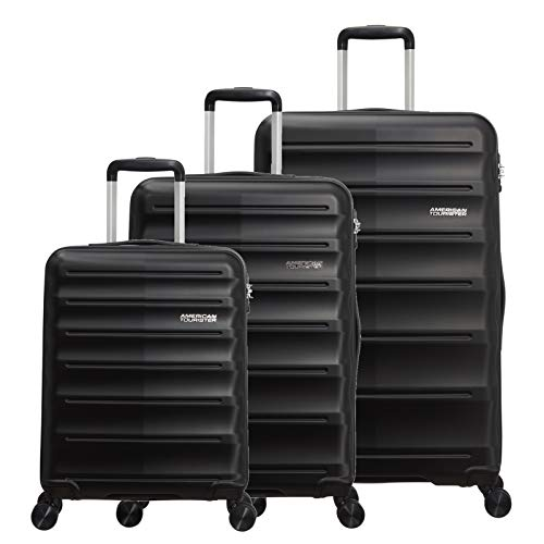 American Tourister MTO Speedlink 3 Piece Luggage Set - 55cm, 67cm, & 77cm - Black
