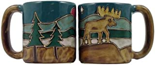 One (1) MARA STONEWARE COLLECTION - 16 Oz Coffee Cup Collectible Dinner Mug - Moose Design