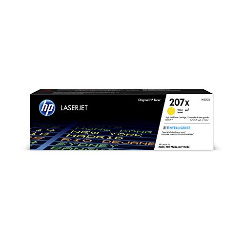 HP 207X (W2212X) Gelb Original Toner mit hoher Reichweite für HP Color LaserJet Pro M283 / M282 / M255