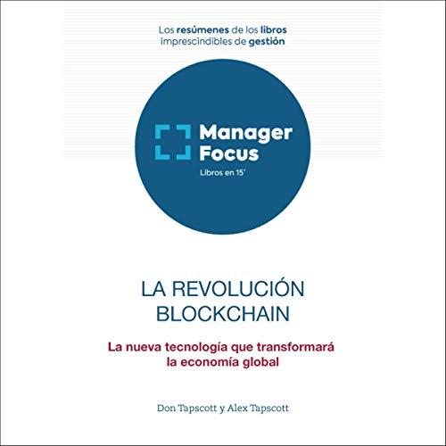 Diseño de la portada del título Resumen de La revolución blockchain de Alex Tapscott y Don Tapscott
