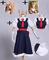 コスプレ衣装 女性のための徹コスプレ衣装女性ウィッグセット女の子アニメドレスミス小林さんドラゴンメイドカンナコスプレハロウィンコスチューム SYMJP (Color : Skirt with Wig, Size : XL)