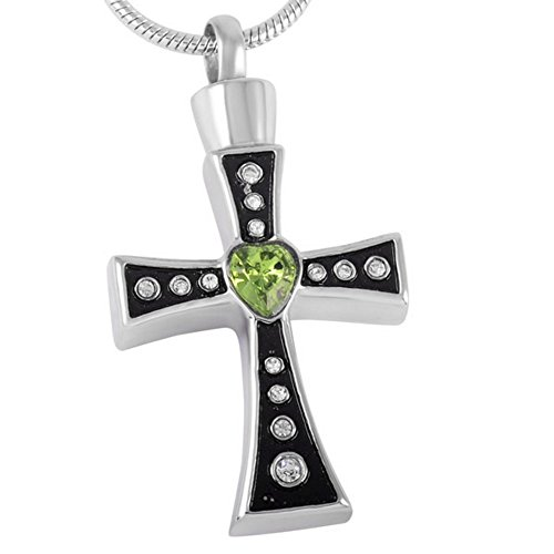 Celtic Cross Urn Necklace for Ashes - Cremation Jewelry Keepsake Pendant - Funnel Fill Kit Included
