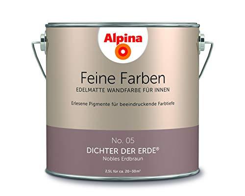 Alpina 2,5 L. Feine Farben, Farbwahl, Edelmatte Wandfarbe für Innen (No.05 Dichter der Erde)