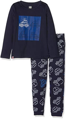 LEGO Baby-Jungen DUPLO Boy CM-73448 Pyjama Zweiteiliger Schlafanzug, Blau (Dark Navy 590), 80