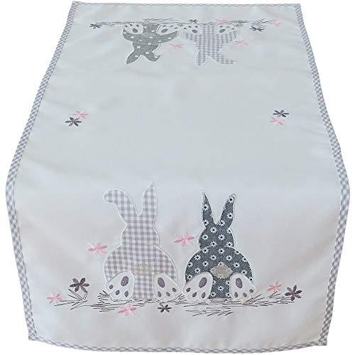 Matches21 - Camino de mesa con diseño de conejos de Pascua, 40 x 85 cm, poliéster