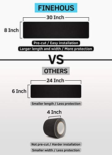 "8""x30"" Stair Treads Non-Slip Outdoor Tape – (10-Pack) Black Anti-Slip Strips"