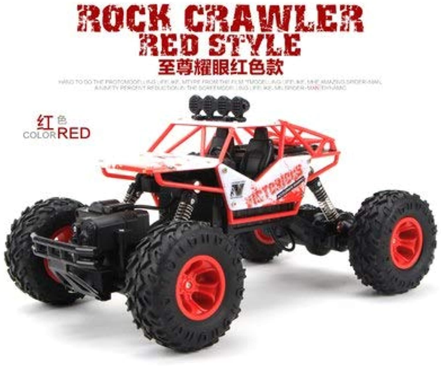 Generic 1 12 RC Car 4WD Climbing Car 4x4 Double Motors Drive Bigfoot Car Remote Control Model OffRoad Vehicle oys for Boys Kids 28cm red