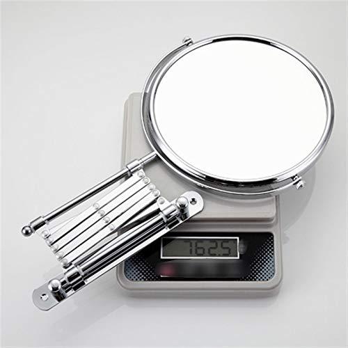 CZFSKCZ Frap a Parete per Il Trucco a Parete Specchio Professionale Professional Vanity Specchio Regolabile controsoffitto 180 Lente di ingrandimento Senza Rotante F6406 F6408