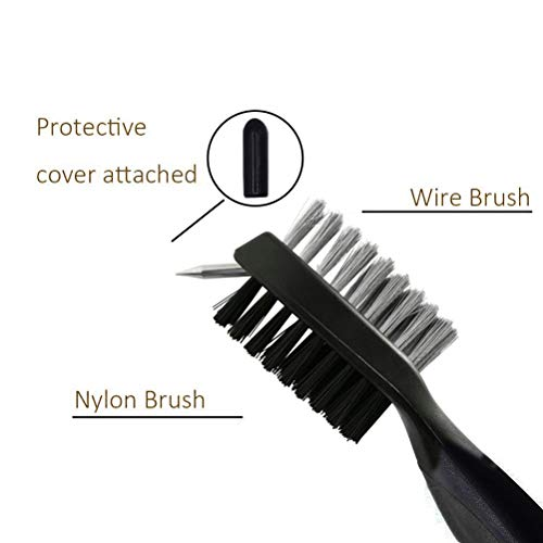 Anmao Golf Club Brush and Towel Kit, Durable golf groove cleaning tool set, Golf Gifts for Men include Microfiber Golf Towel and Golf Brush with Carabiner Clip