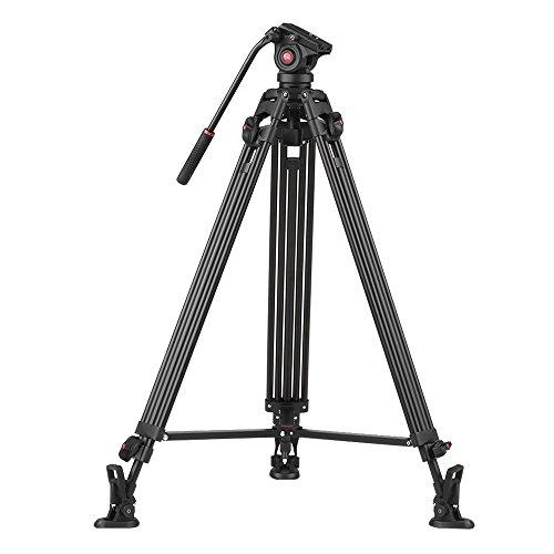 VILTROX vx-18 m 190 cm/190 cm camcorder treppiede in lega di alluminio W/360 ° Fluid Damping testa stabile horseshoe-shape piede per Canon Nikon Sony DSLR Ildc max. Carico 10 kg/22 lbs