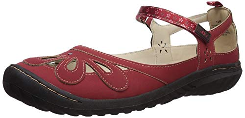 JBU by Jambu Women's Wildflower Encore Mary Jane Flat, red, 12 M US