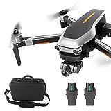 Drone plegable con cámara para adultos - Gps Drone 4k con cámara para adultos Smart Return Quadcopter Drone de control remoto móvil