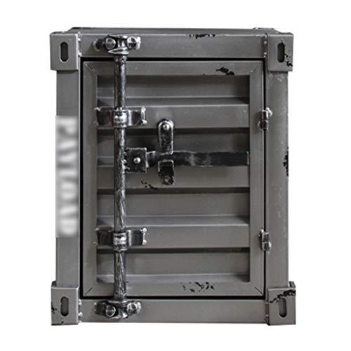 Tresore Sicherheit, retro Box Eisenschrank Schrank Vitrine - grau - sicher -40X38X48cm Versicherung Box Möbeltresore