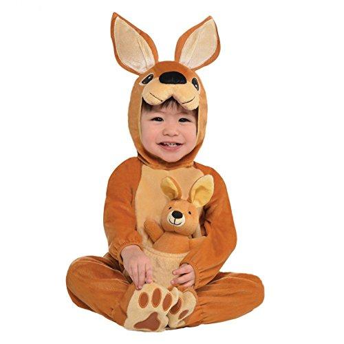 Krause & Sohn Disfraz de Canguro para niño Totalmente Cosido con Animal de Peluche Traje de Animal Carnaval Canguro Bebé