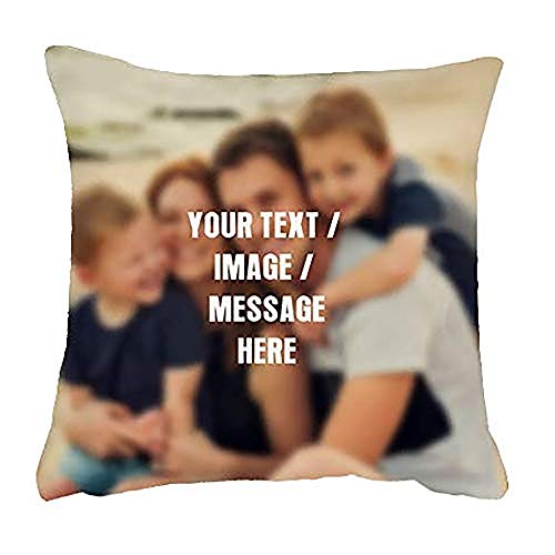 Getagift Personalised Cushion with your own Text/Image/Any Name themed Cushion Cover-Throw Pillow Cover. (40 cm x 40 cm Satin Cushion Cover)