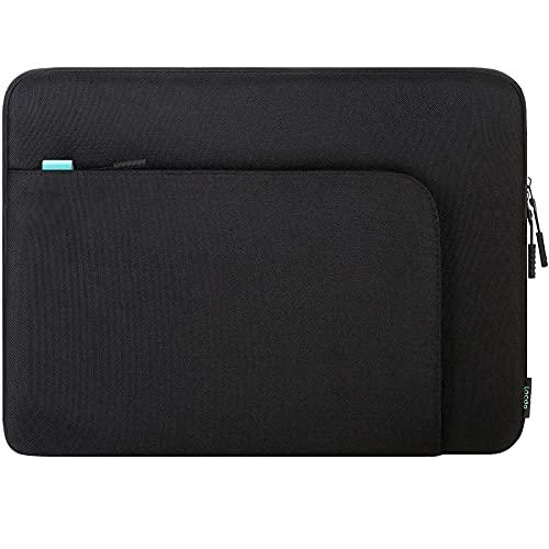 Lacdo 15.6 Inch Laptop Sleeve Case for 15.6' Acer Aspire/Nitro/Predator, IdeaPad 3, ASUS ZenBook VivoBook 15, HP Pavilion 15, Dell Inspiron 15, MSI GL65 Computer Bag with Accessory Pocket, Black