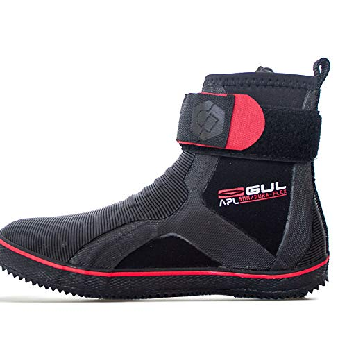 Gul All Purpose Lace 5mm Wetsuit Boot Boots Boot ZWART ROOD - Een perfecte allrounder voor rubberboot zeilen - Easy Stretch