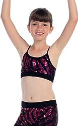 Kurve Kids Zebra Sequin Girls Dancewear Set