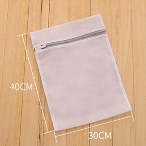 Mdsfe Mesh Laundry Bags for Washing Machine Travel Clothes Storage Net Zip Bag for Wash Bra Stocking and Underwear - Big, a2
