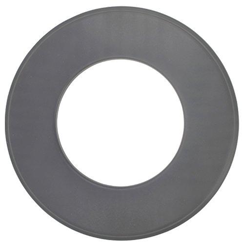 BAUPROFI Wandrosette für Pelletofen in der Farbe Grau, Ø 80 mm zur Abdeckung des Kaminanschlusses
