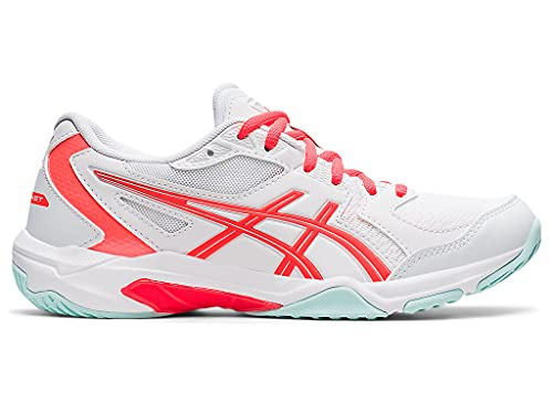 ASICS Women's Gel-Rocket 10 Indoor Sport Shoes, 7.5, White/Sunrise RED