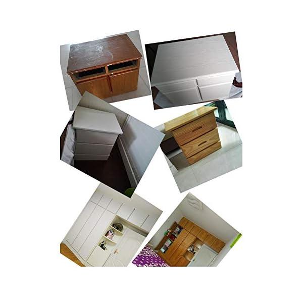JLCorp – Papel de contacto con textura mate, autoadhesivo, revestimiento de papel de vinilo para estantería…